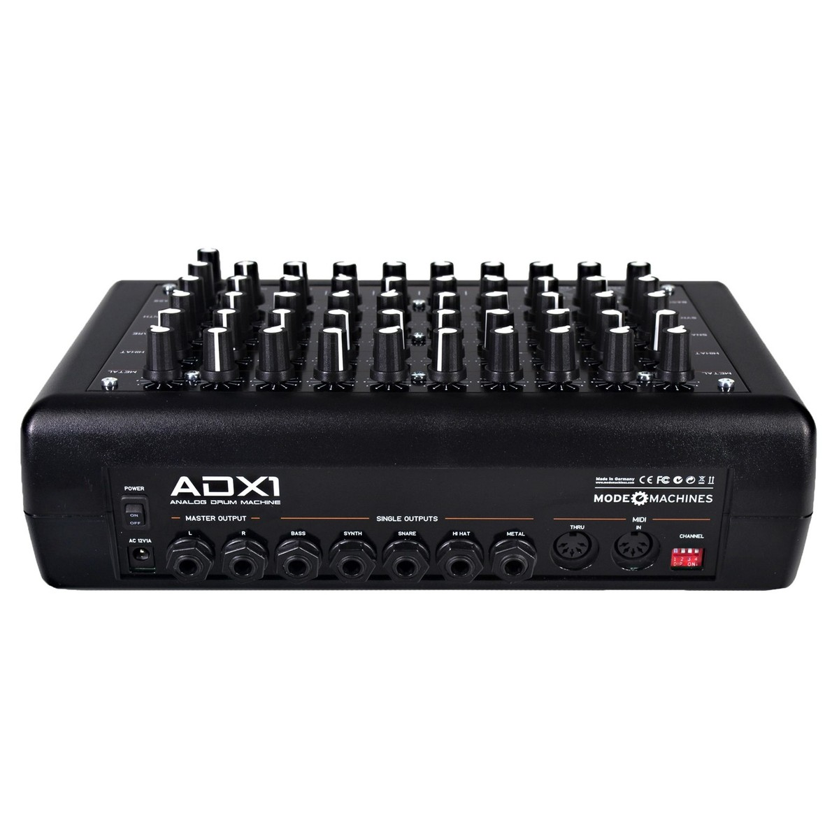 mode machines adx 1 analog drum machine at gear4music. Black Bedroom Furniture Sets. Home Design Ideas