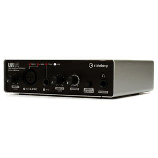 Steinberg UR-12 USB Audio Interface (iOS Ready) - Angled 2
