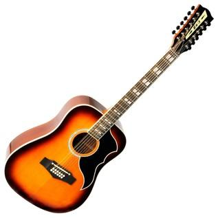Eko Ranger XII VR EQ Electro Acoustic Guitar, Honey Burst Front