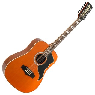 Eko Ranger XII VR EQ Electro Acoustic Guitar, Honey Natural