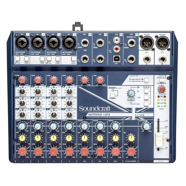 Soundcraft Notepad 12-FX Analog USB Mixer