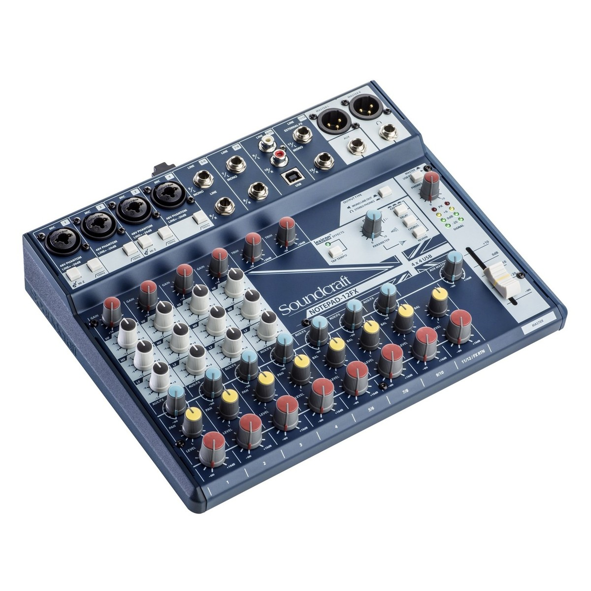 Soundcraft Notepad 12 Fx Analog Usb Mixer At Gear4music Cable Neutrik Xlr 1 4quot Combo Jacks And Phantom Power Sound Design Loading Zoom