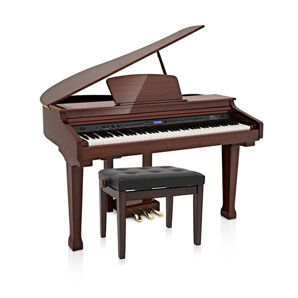 GDP-100 Grand Piano by Gear4music, Polished Mahogany