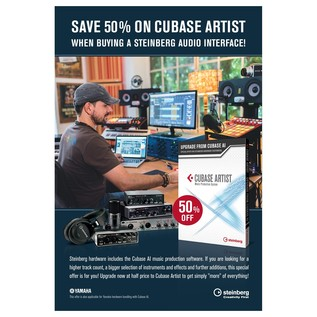 Steinberg Cubase Artist With Free UR-12 USB Audio Interface - Promo