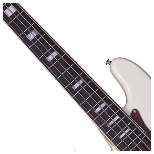 Diamond-J 5 Plus Left Handed Bass Guitar, Ivory