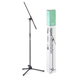 Stagg Microphone Boom Stand with Folding Legs - Stand & Box