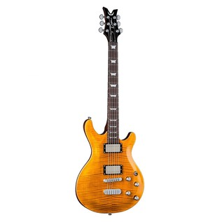 Dean Icon Flame Top, Trans Amber Front View