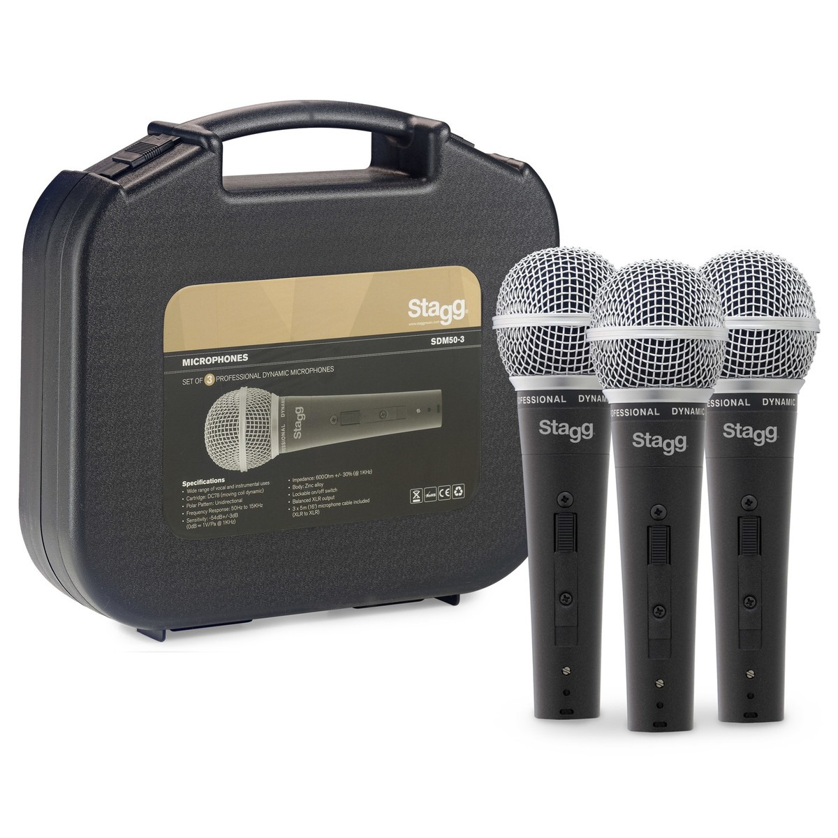 Stagg Vintage Style Dynamic Vocal Microphone | Gear4music