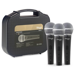 Stagg SDM50-3 Set of 3 Professional Cardioid Dynamic Mics