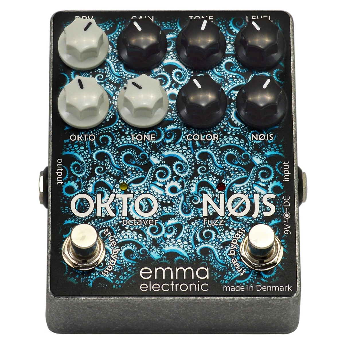 Emma Electronic Okto Nøjs Analogue Octaver and Fuzz at Gear4music.com