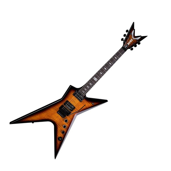Dean Dimebag Stealth Floyd DS Electric Guitar, Trans Brazilia Full Guitar