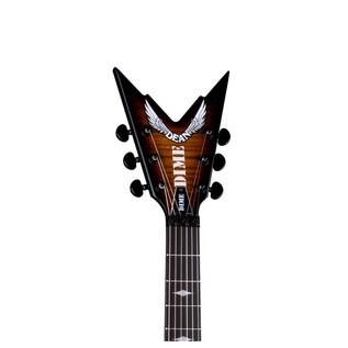 Dean Dimebag Stealth Floyd DS Electric Guitar, Trans Brazilia Neck View