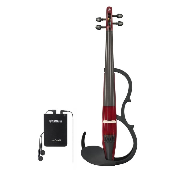 Yamaha YSV-104 Silent Violin, Wine Red