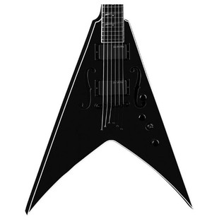Dean V Dave Mustaine StradiVMNT Electric Guitar, Classic Black Body View