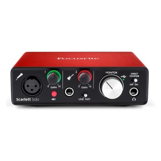 Focusrite Scarlett Solo and Subzero SZC-400 Pack (2nd Gen) - Front