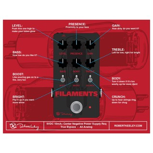 Keeley Electronics Filaments Overdrive Instructions