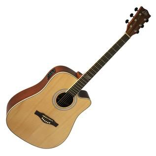 Eko TRI D CW EQ Electro Acoustic Guitar, Natural