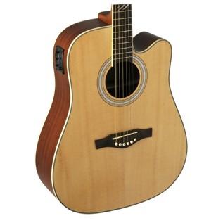 Eko TRI D CW EQ Electro Acoustic Guitar, Natural- Body
