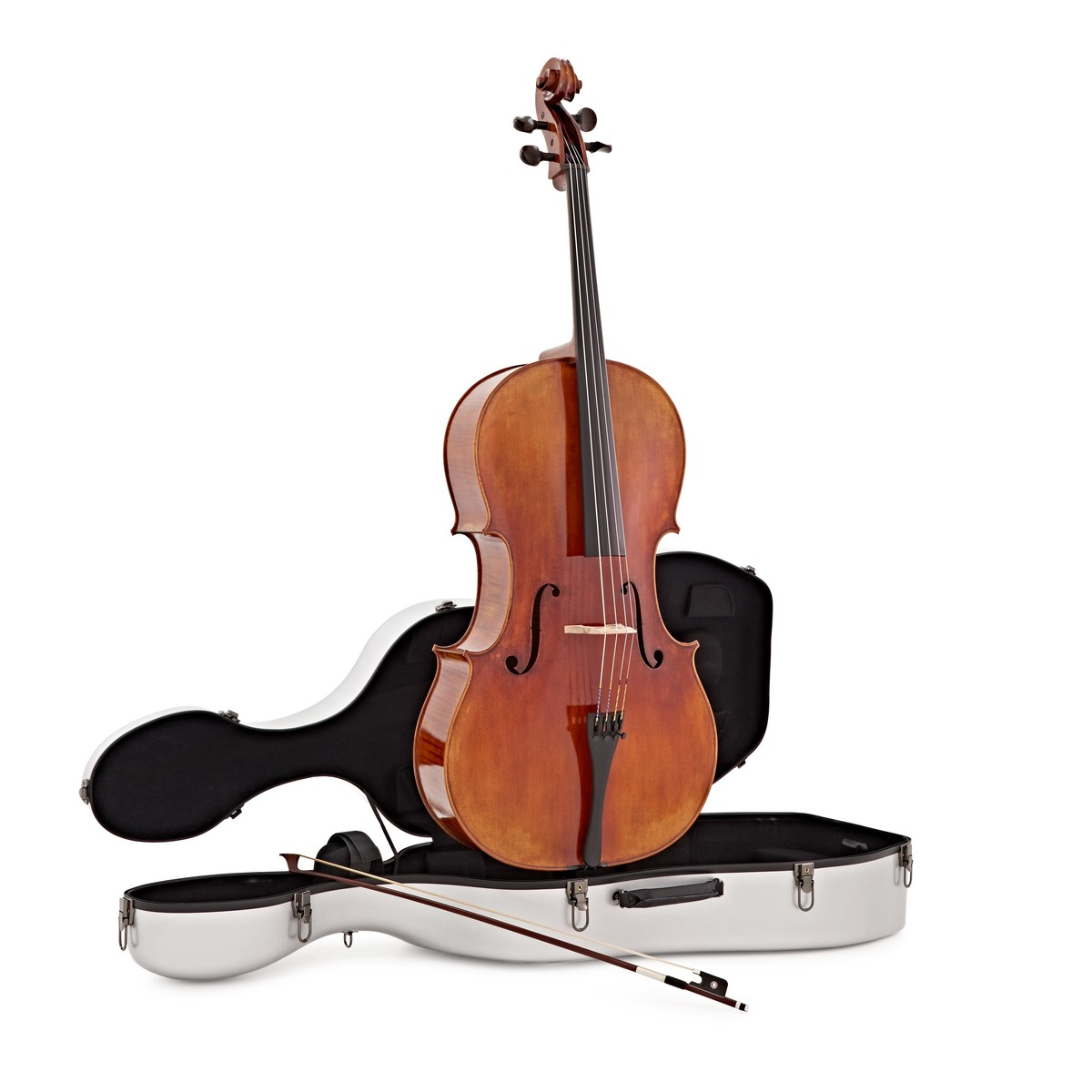 String Upright Double Bass Neck Fingerboard Peg Tailpiece Bridge Endpin String Bass Kit Skilful Manufacture