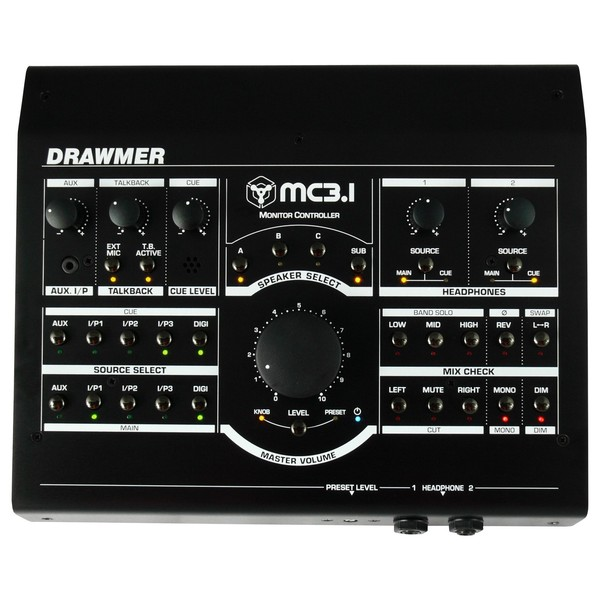 Drawmer MC3.1 Desktop Monitor Controller - Top