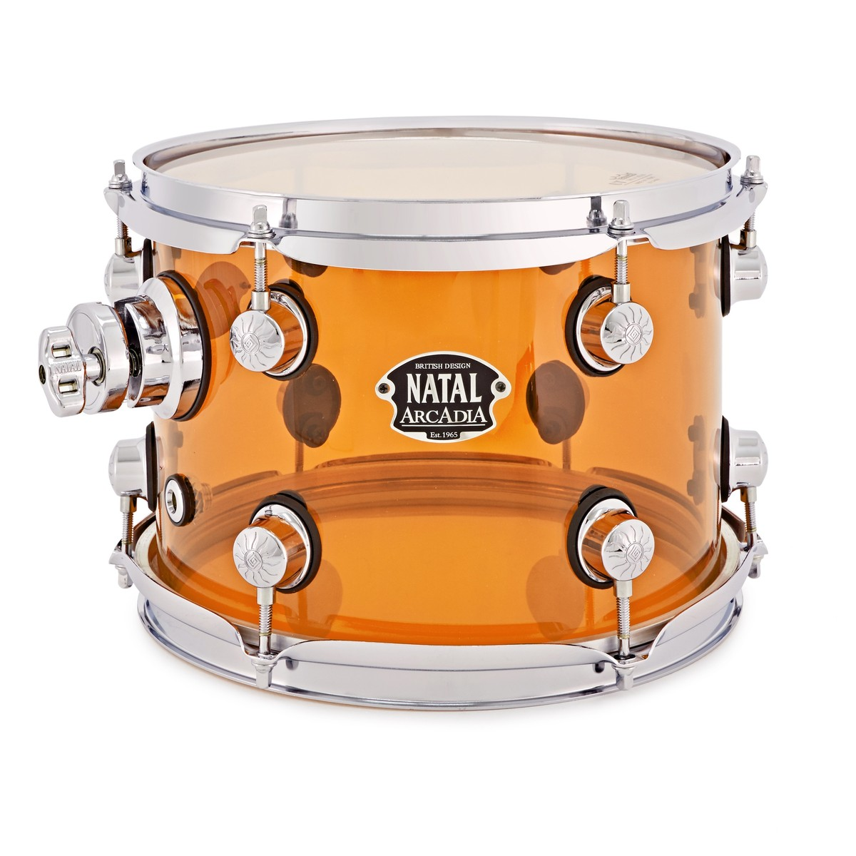 Natal Arcadia Acrylic 10 x 7 Rack Tom, Transparent Orange