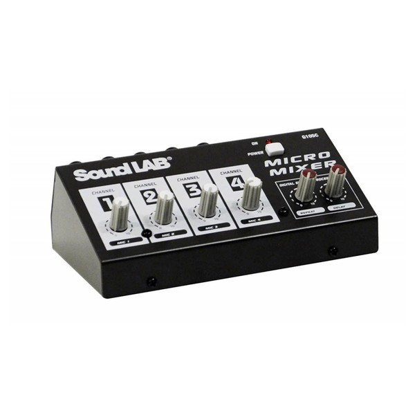 SoundLAB 4-Channel Mono Microphone Mixer With Effects