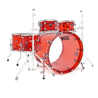 Natal Arcadia 5 Piece Acrylic Shell Pack, Red
