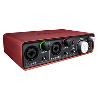 Focusrite Scarlett 2i2 Interface - Angled