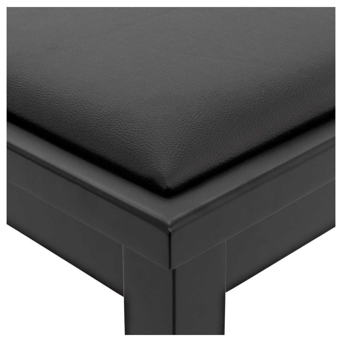 Beau Duet Piano Stool With Storage By Gear4music, Matte Black