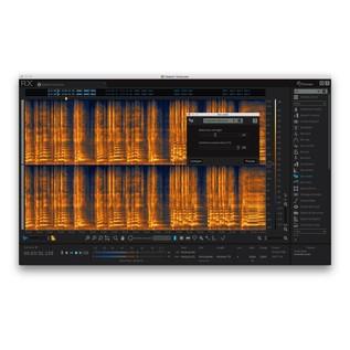 iZotope RX6 Advanced Audio Editor - De-Rustle Edit View