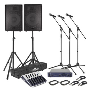 750w Passive PA System with Mixer and Power Amp