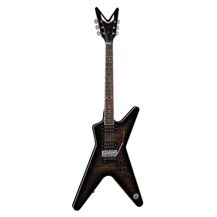 Dean ML 79 Floyd Electric Guitar, Trans Black Front View