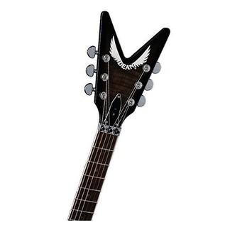 Dean ML 79 Floyd Electric Guitar, Trans Black Neck View