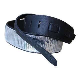 Copperpeace Glovely Silver Sequined Guitar Strap 2