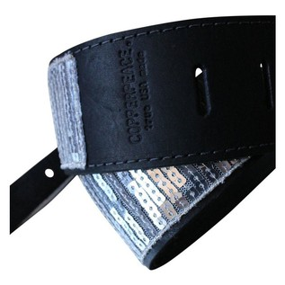 Copperpeace Glovely Silver Sequined Guitar Strap 3