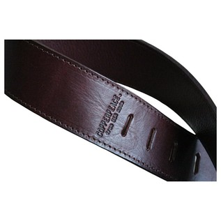 Copperpeace Marin Burgundy Leather Guitar Strap 3