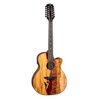Luna Vista Eagle Electro Acoustic 12 String, with Case Front View