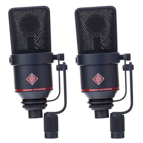 Neumann TLM 170 R mt Switchable Studio Microphone Stereo Set, Black