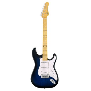 G&L Legacy Tribute Series Maple Electric Guitar, Blueburst Front View
