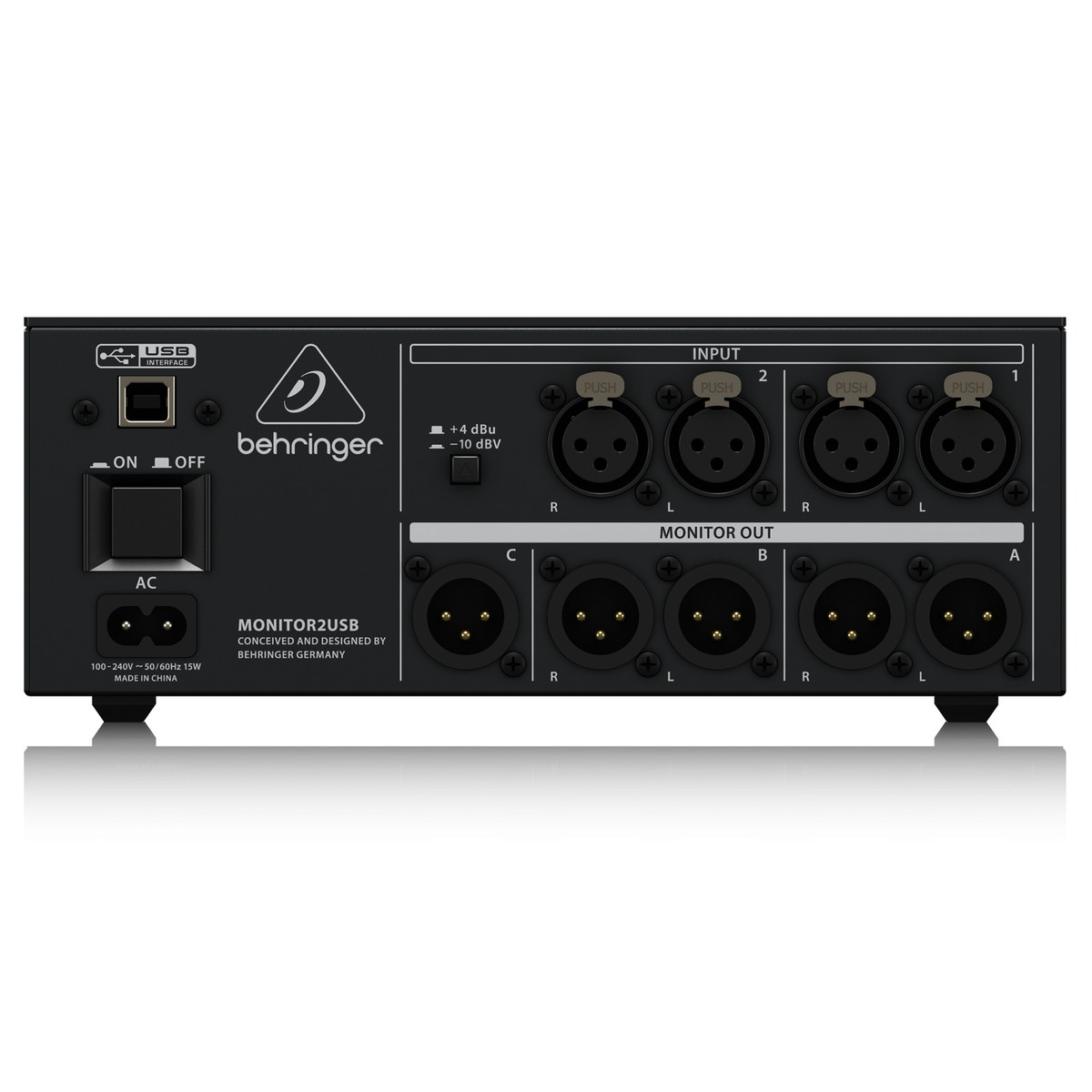 Behringer Monitor2usb Headphone Speaker Controller At Gear4music Circuits Monitor Amp 2 Usb Loading Zoom