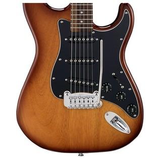 G&L Tribute S500 Electric Guitar, Tobacco Sunburst Body View