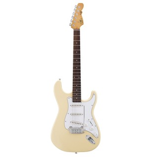 G&L Tribute S500 Electric Guitar, Vintage White Front View