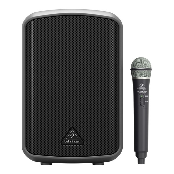 Behringer MPA100BT Portable PA System w/ Wireless Microphone, Front View