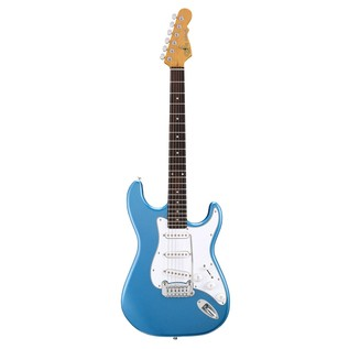 G&L Legacy Tribute Series Electric Guitar, Lake Placid Blue Front View