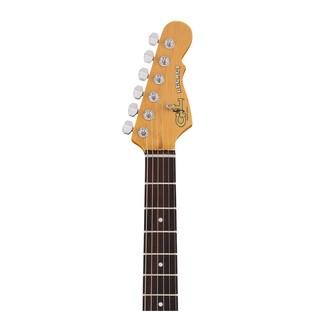 G&L Legacy Tribute Series Electric Guitar, Lake Placid Blue Neck View