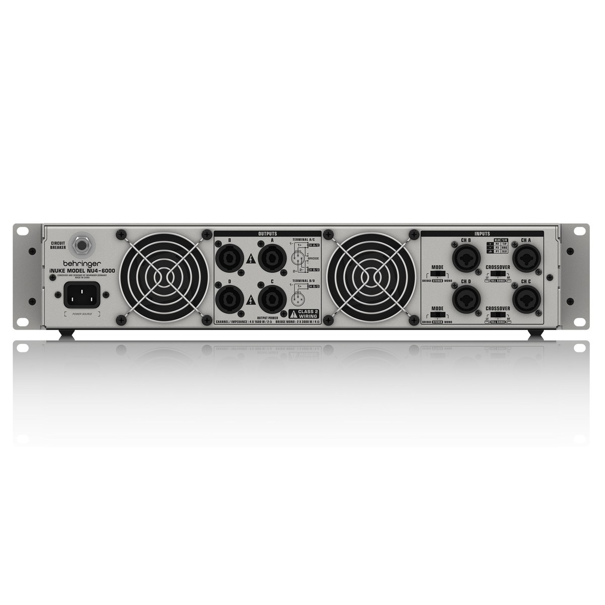 Disc Behringer Inuke Nu4 6000 Power Amplifier At Gear4music Mono To Stereo Circuit Amp Loading Zoom