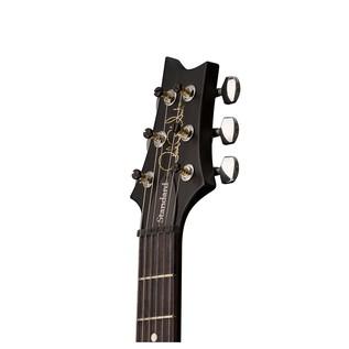 S2 Singlecut Standard Satin Electric Guitar, Black