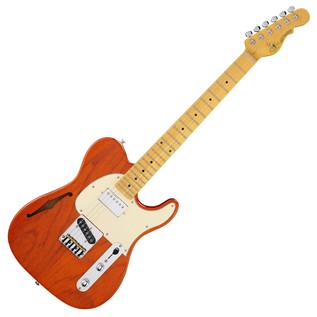 G&L Tribute ASAT Classic Bluesboy Semi-Hollow, Clear Orange Full Guitar
