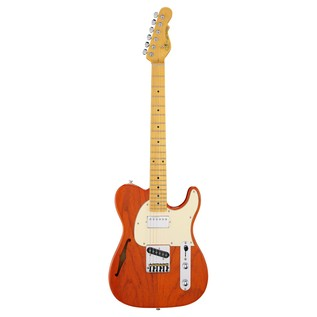 G&L Tribute ASAT Classic Bluesboy Semi-Hollow, Clear Orange Front View