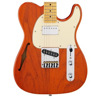 G&L Tribute ASAT Classic Bluesboy Semi-Hollow, Clear Orange Body View